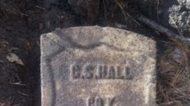 Headstone of C.S. Hall of the United States Colored Troops. (Delaware Division of Historical and Cultural Affairs)