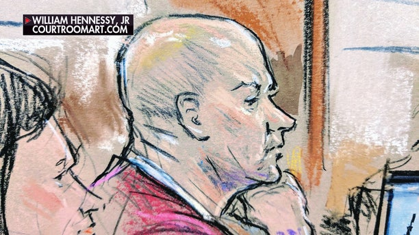 Lt. Christopher Paul Hasson appears in federal court Thursday.