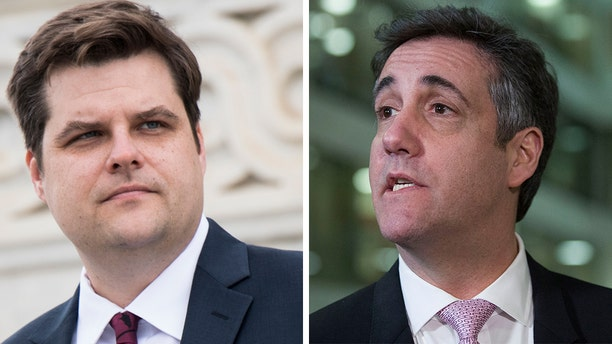 Florida Rep. Matt Gaetz defended a tweet he sent Tuesday about Michael Cohen, suggesting that President Trump'sformer attorney had been unfaithful to his wife.