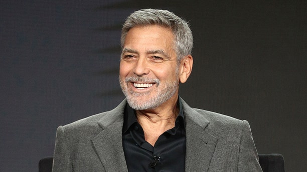"George Clooney of the television show ""Catch 22"" speaks during the Hulu segment of the 2019 Winter Television Critics Association Press Tour at The Langham Huntington, Pasadena on February 11, 2019 in Pasadena, Calif."