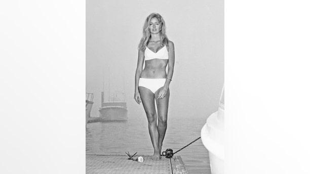 Actress Farrah Fawcett poses for a portrait in Los Angeles, California, circa 1975.