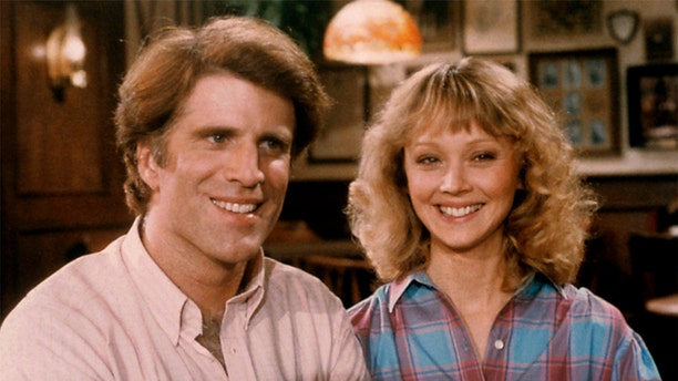 "Ted Danson as Sam Malone and Shelley Long as Diane Chambers, in ""Cheers."" — Getty"