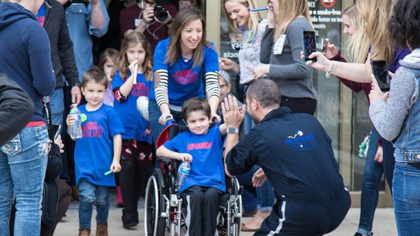 Owen Coulter, 5, of Austin, Texas, got a hero's sendoff after making a miraculous recovery at the Dell Children's Hospital.