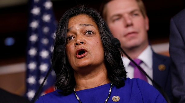 "Rep. Pramila Jayapal (D-WA) unveiled her ""Medicare-for-all"" plan this week. REUTERS/Aaron P. Bernstein"