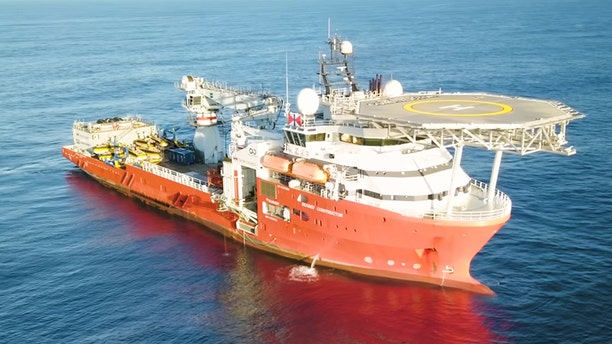 An overhead view of Ocean Infinity's Seabed Constructor.
