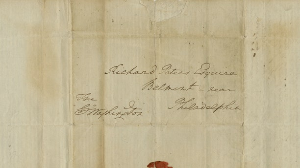 The letter was written to Richard Peters, speaker of the Pennsylvania Constitution. (The Raab Collection)