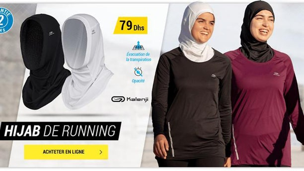 A sporting goods store is postponing sales of a sports hijab in France.