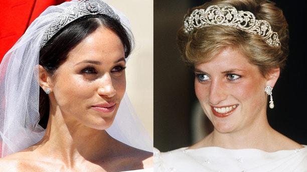 Meghan Markle and Princess Diana.
