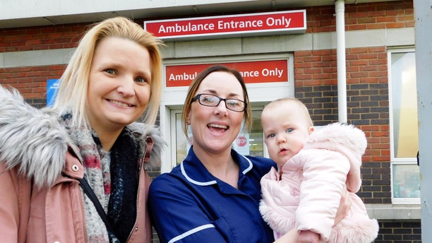 Lisa Davey named her daughter Danielle Alice Davey after their nurse, Danielle McLardie, who helped care for them while she recovered from a rare infection.