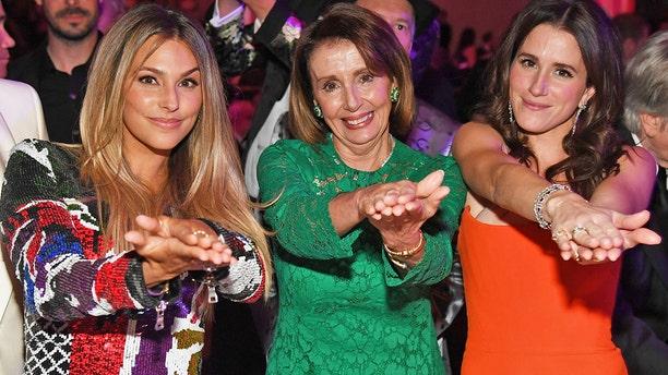 Yael Cohen, Nancy Pelosi, and Jessie Muscio