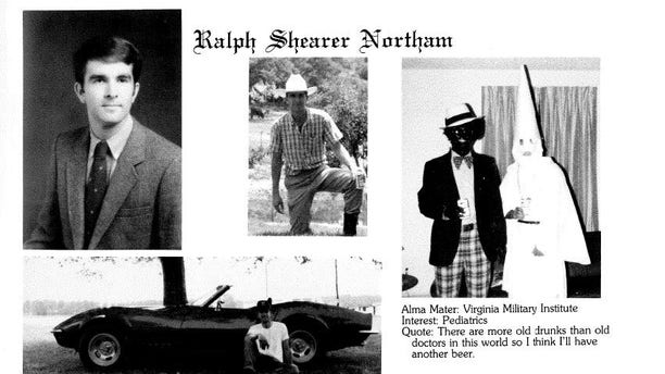 Fox News obtained a copy of 1984 yearbook page from the Eastern Virginia Medical School library in Norfolk.