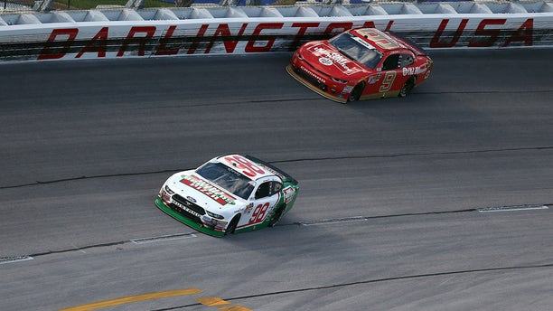 Tyler Reddick drove the Old Milwaukee-sponsored #9 car for JR Motorsports to a third-place finish at the 2018Darlington Xfinity race.