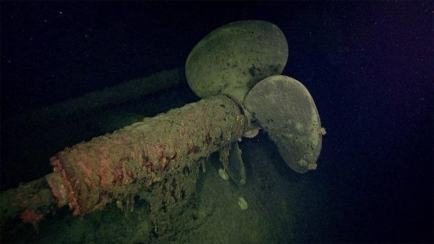 A propeller at the Hiei wreck. (RV Petrel)