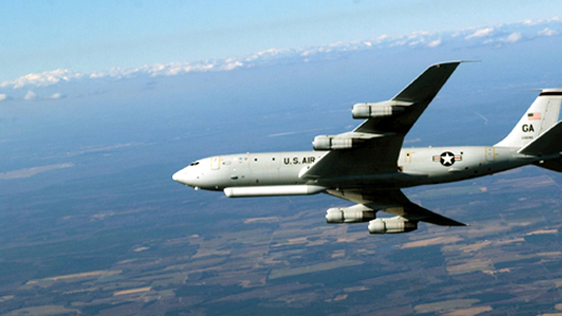 The E-8C Joint Surveillance Target Attack Radar System is a joint Air Force - Army program. The Joint STARS uses a multi-mode side looking radar to detect, track, and classify moving ground vehicles in all conditions deep behind enemy lines. (U.S. Air Force photo by Staff Sgt. Shane Cuomo)