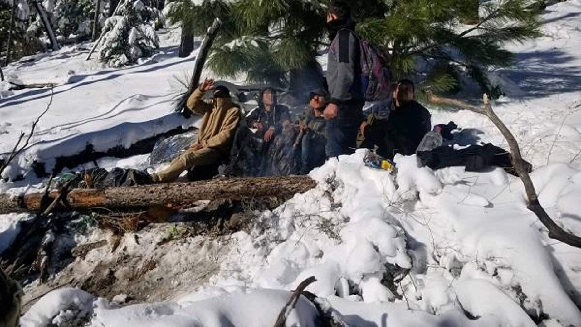 Crews were called to rescue illegal aliens who had become stranded atop a snowcapped mountain in southern Arizona.