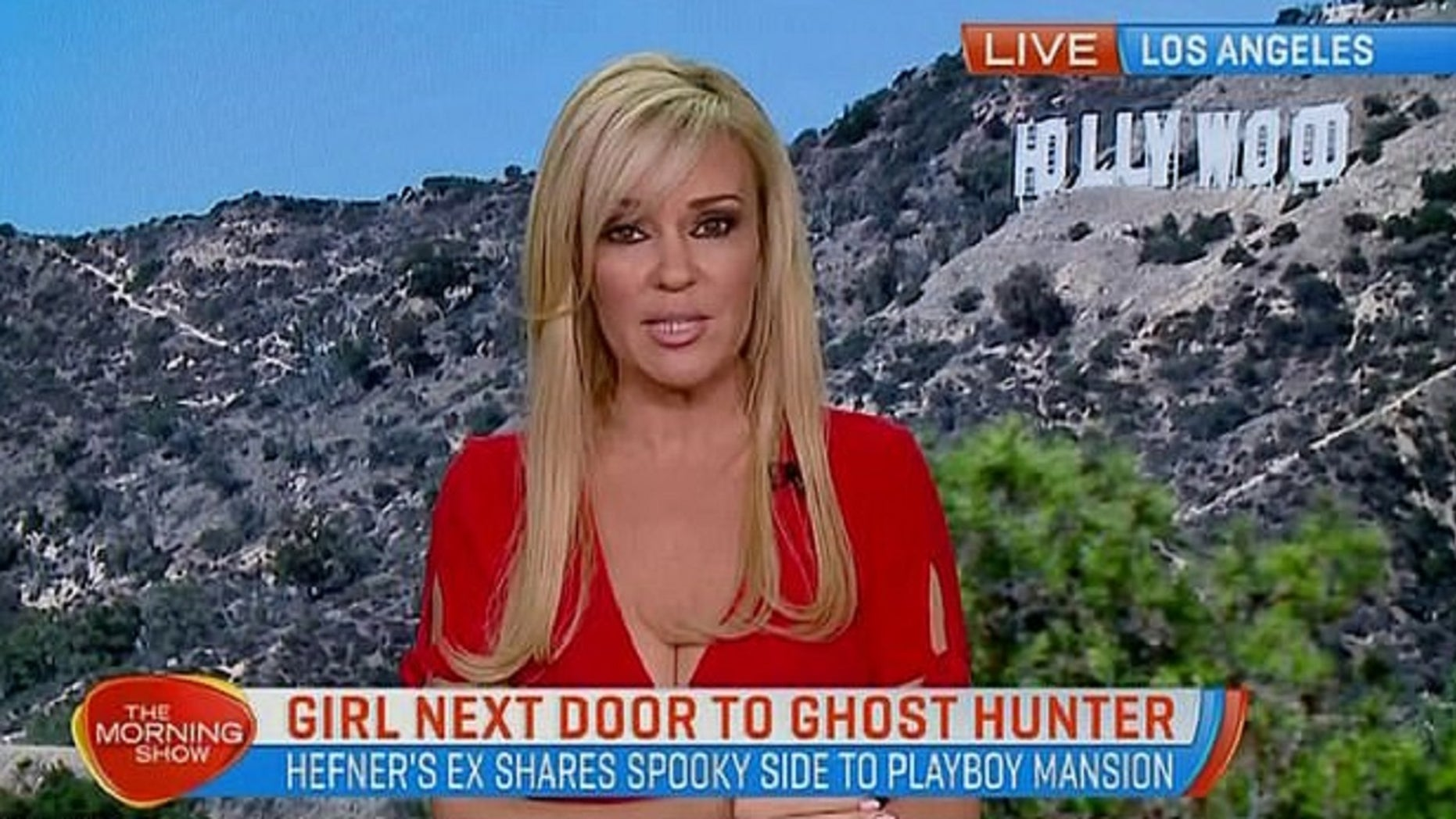 Playboy publisher Hugh Hefner's ex-girlfriend Bridget Marquardt said in an interview Monday that she saw a female spirit in the Playboy Mansion.