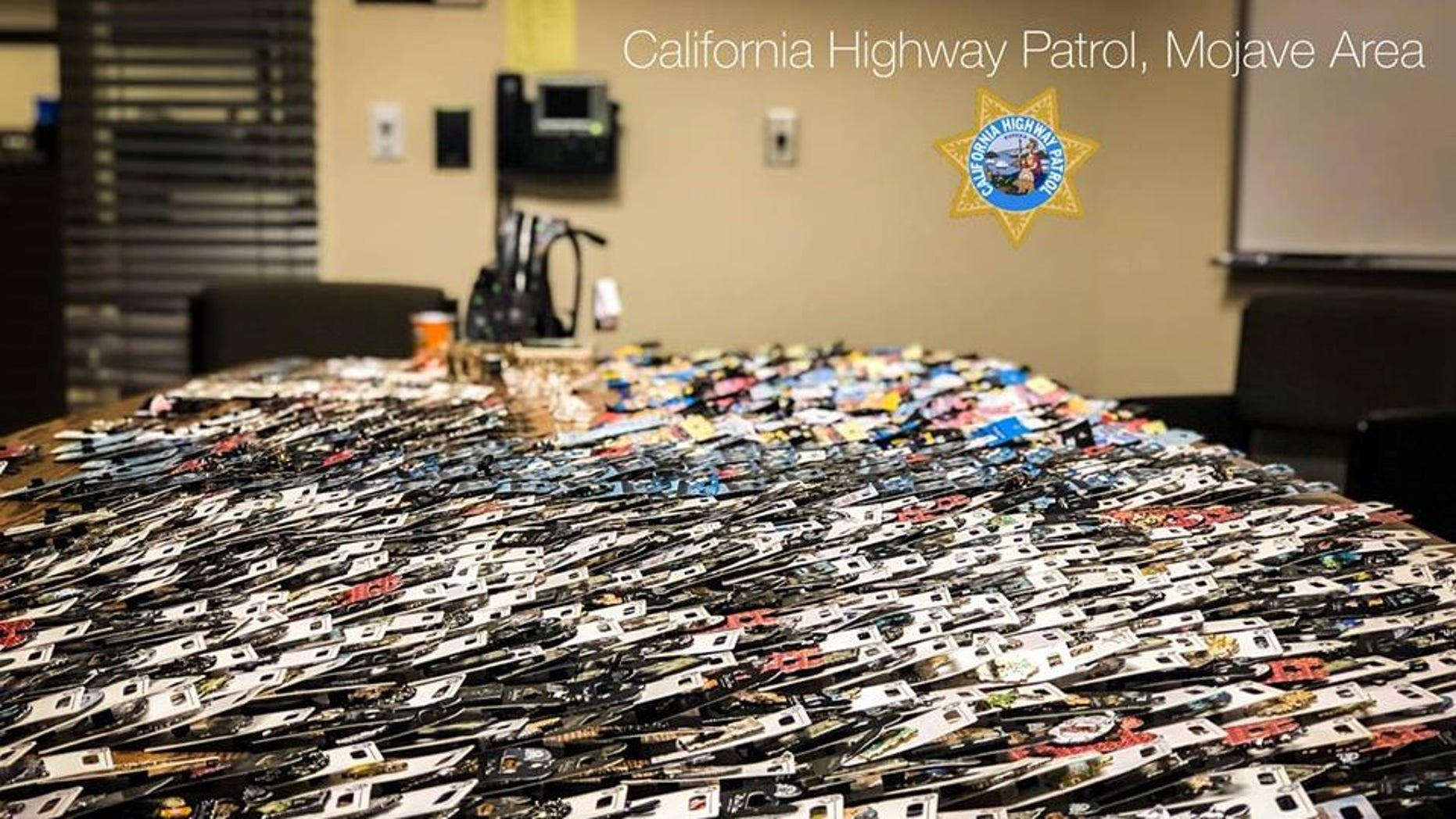 California Highway Patrol officers said they found $10,000 worth of stolen Disneyland merchandise when they pulled over a driver Friday.
