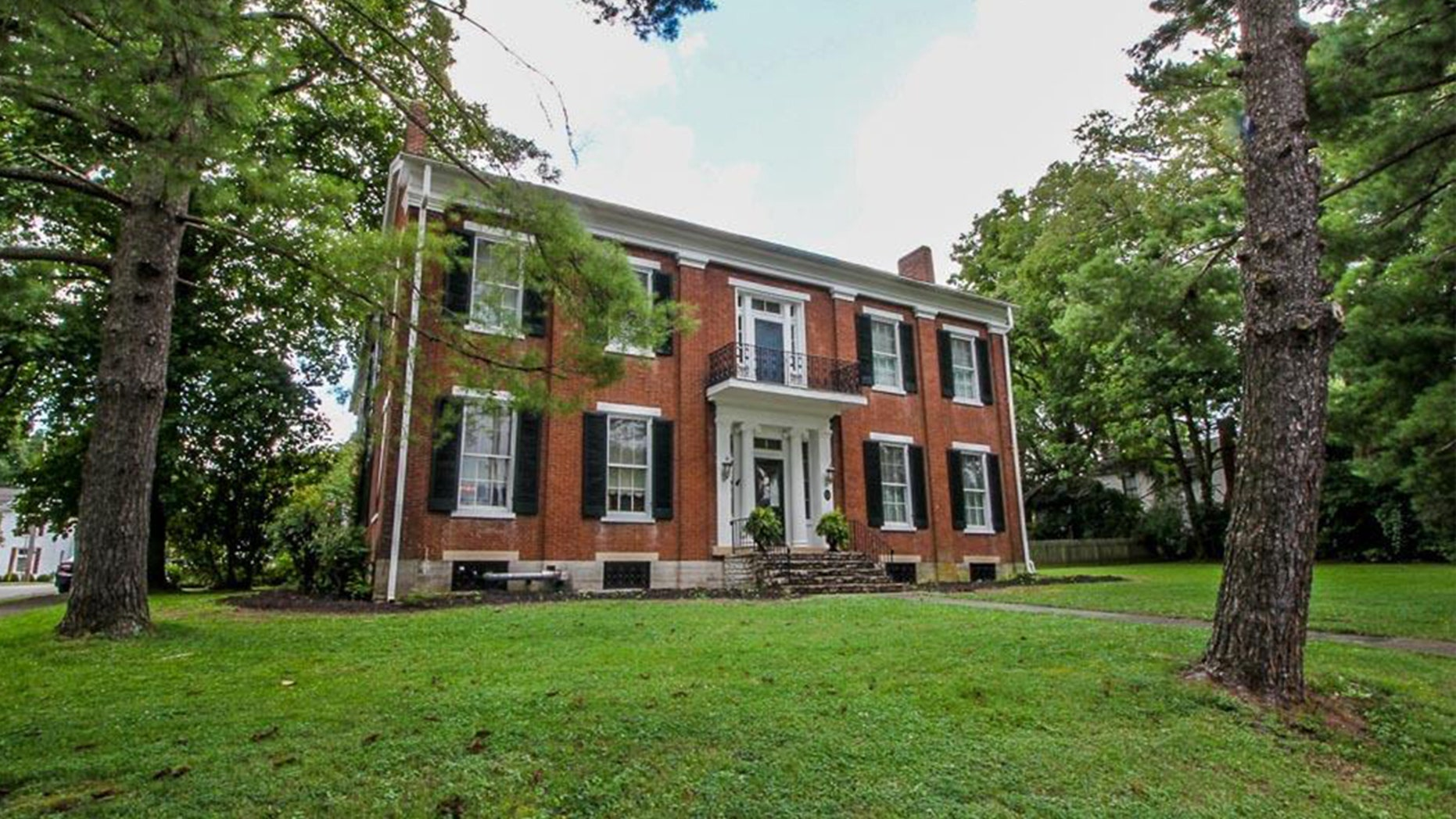 Built in 1842, this Georgian-style colonial for sale in Millersburg features four bedroom, two full bathrooms, and what's rumored to be quite a storied past.