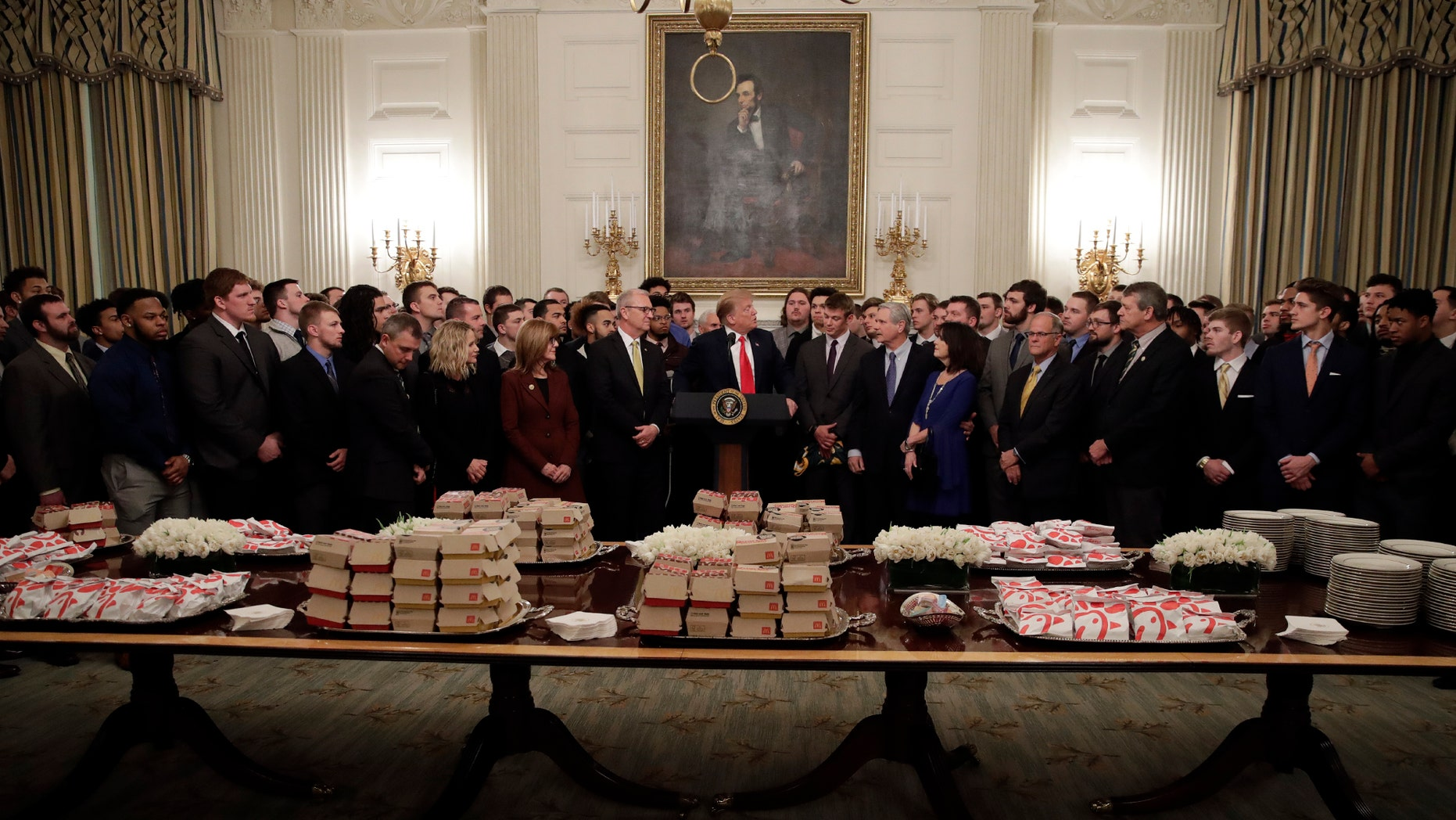 North Dakota State Was Also Served Fast Food at the White House