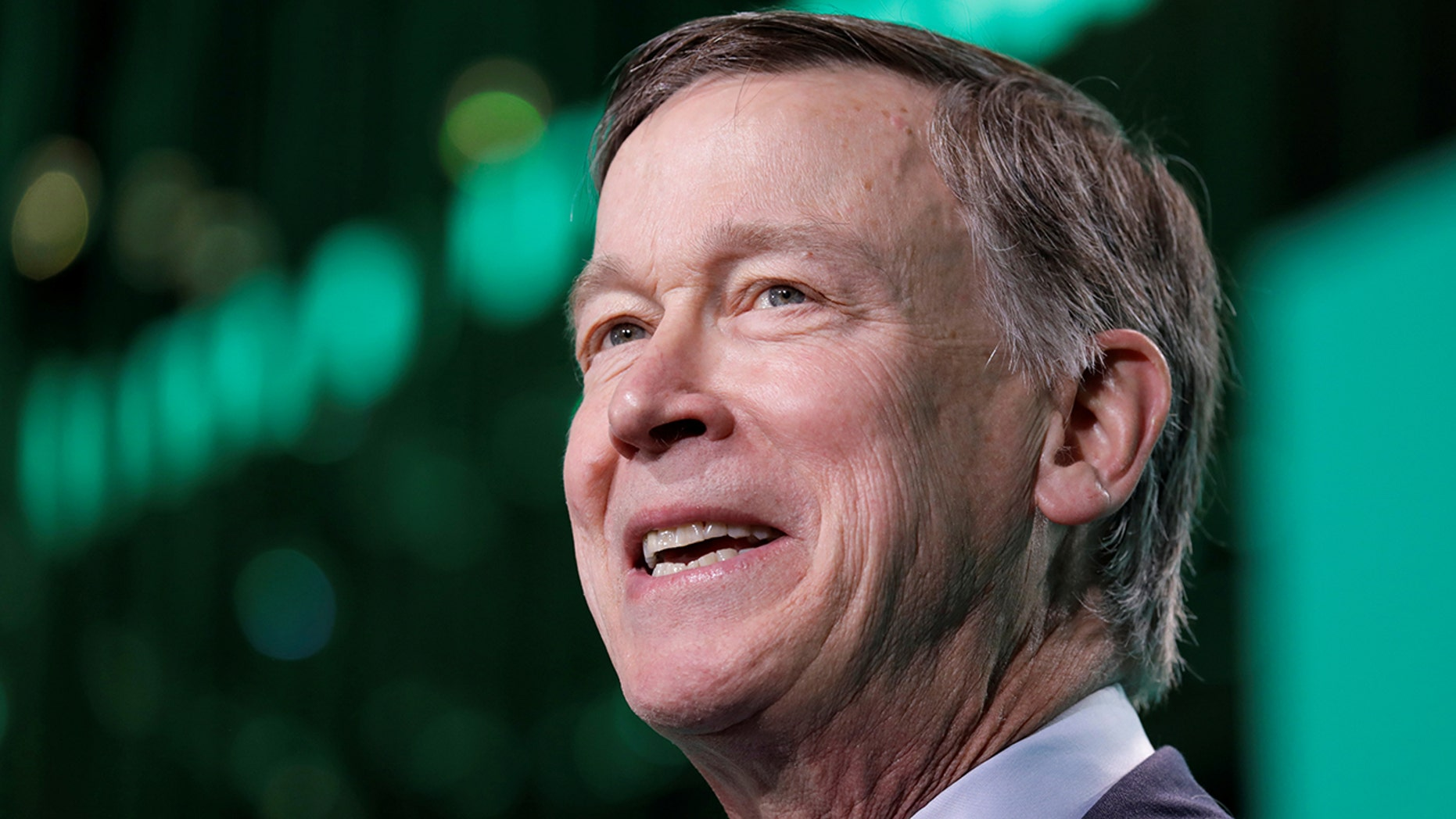 Former Gov. John Hickenlooper speaks at the United States Conference of Mayors winter meeting in Washington, U.S., January 24, 2019. REUTERS