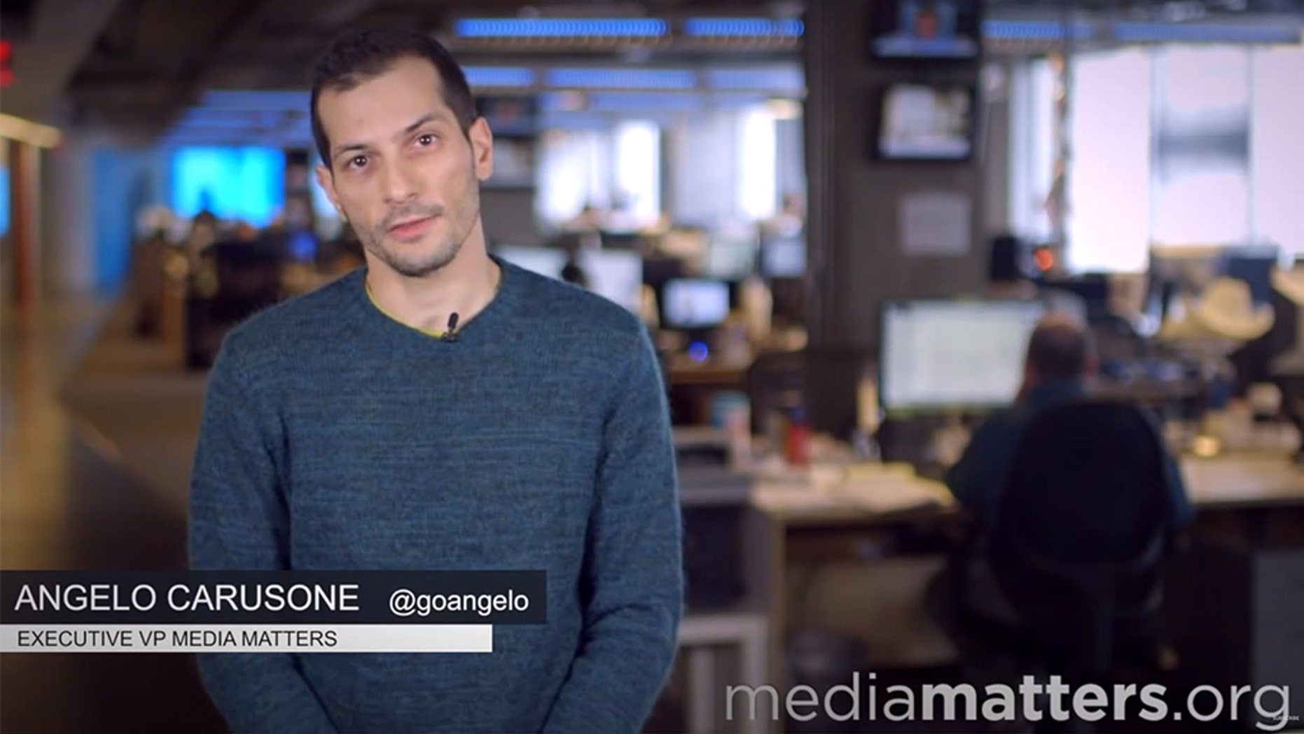 Media Matters President Angelo Carusone allegedly made insensitive comments on his pre-fame blog.