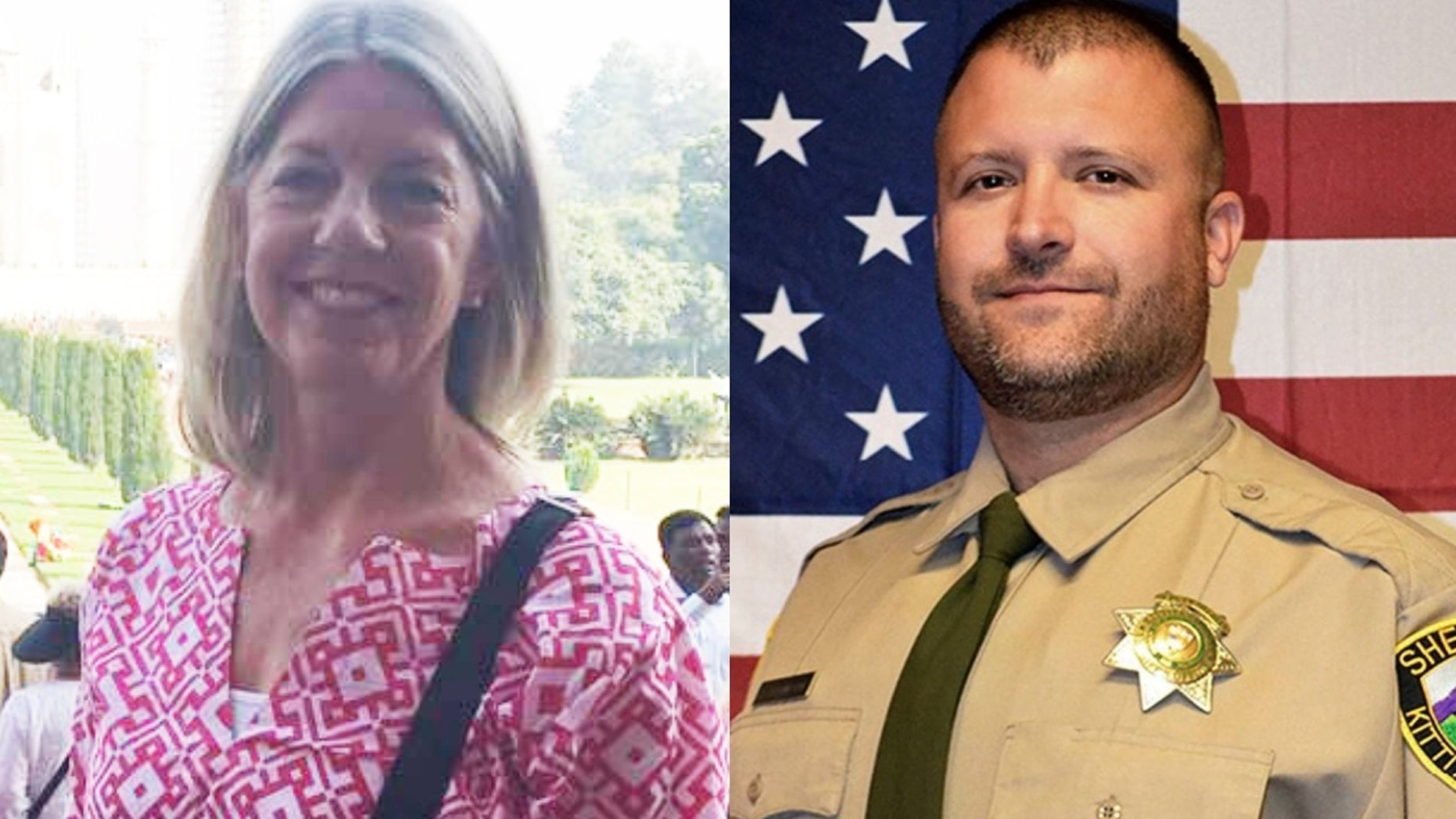 Bambi Larson, 59, was violently killed in her San Jose, Calif., home earlier this year. Sheriff's Deputy Ryan Thompson, 42, died this week in a shootout. Both deaths were attributed to suspects reported to be illegal immigrants.