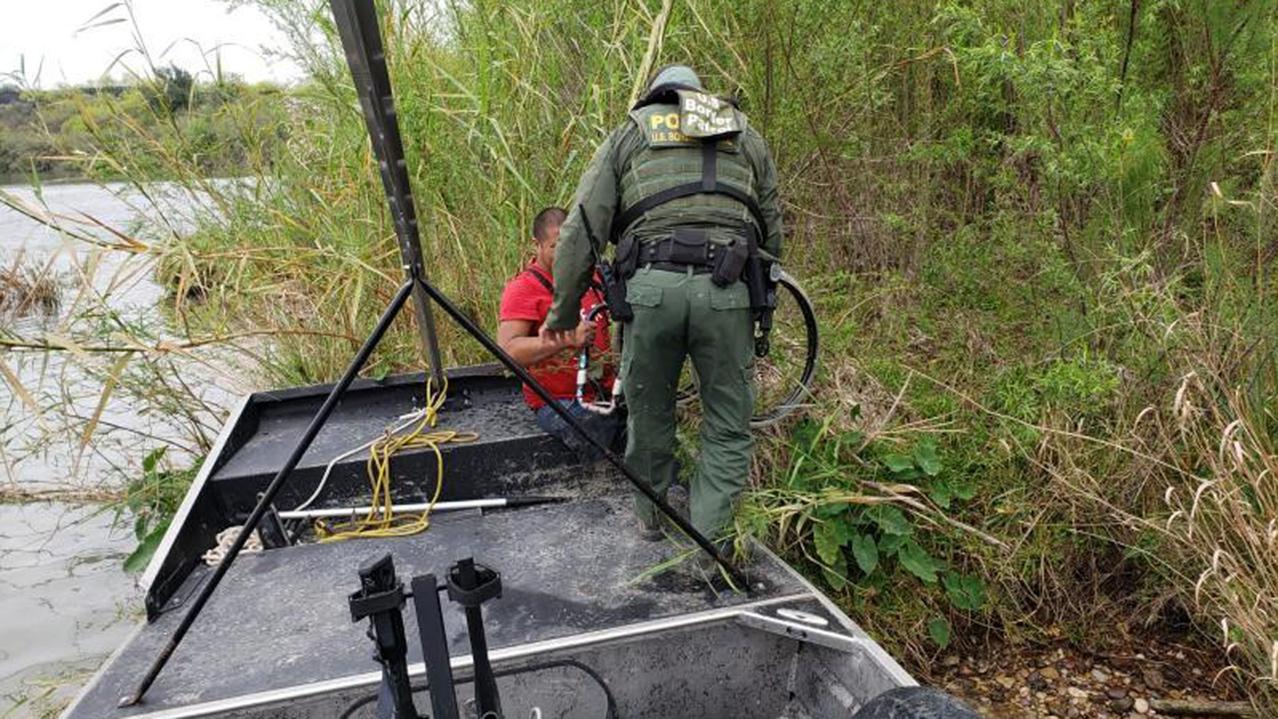 A double amputee from Guatemala was rescued an island in the middle of the Rio Grande River in Texas on Wednesday.