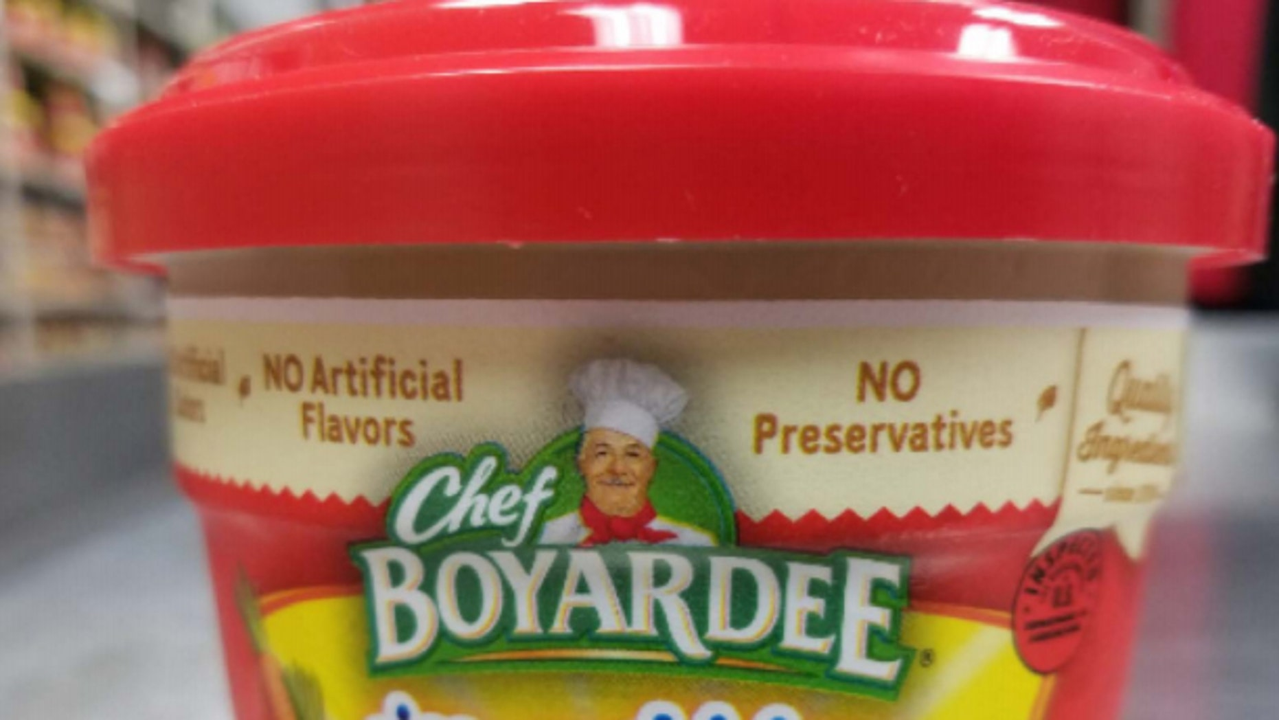 """The affected products are labeled as """"rice with chicken & vegetables,"""" but actually contain beef ravioli."""