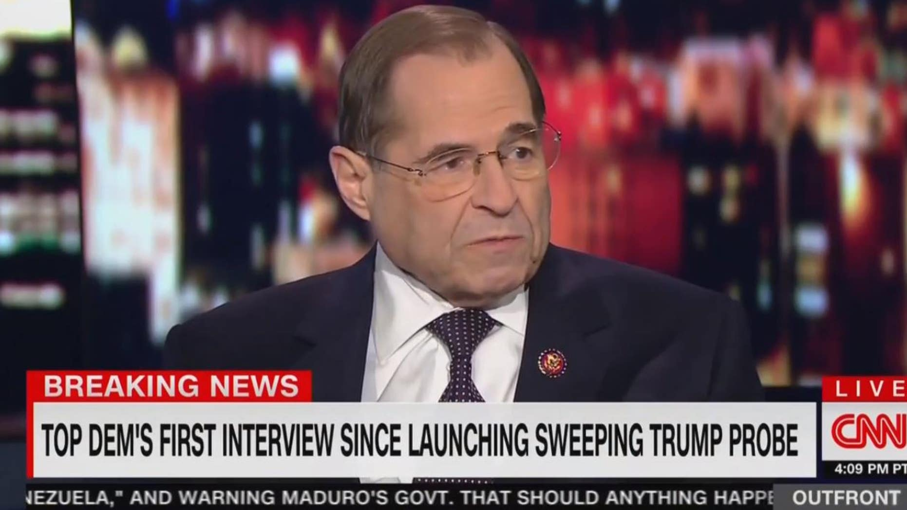 "Judiciary Committee Chairman Jerry Nadler, D-N.Y., said on Monday that the House Democrats latest probe into the Trump administration is necessary to make sure it ""is not a dictatorship."""
