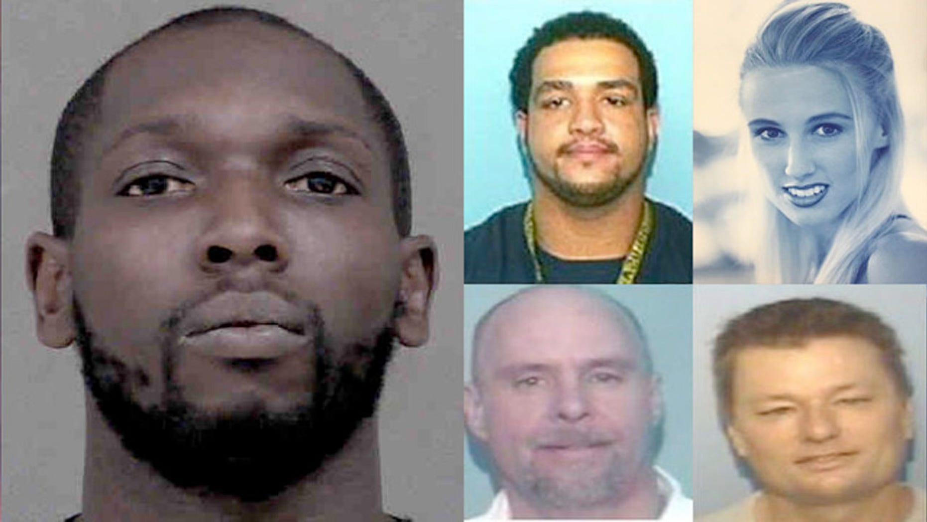 Dominick O'Neill Daise, 32, was arrested in connection with the killings of Timothy Stone (top left,) Cherilyn Crawford (top right), William Royster, and Andrew Babyak.