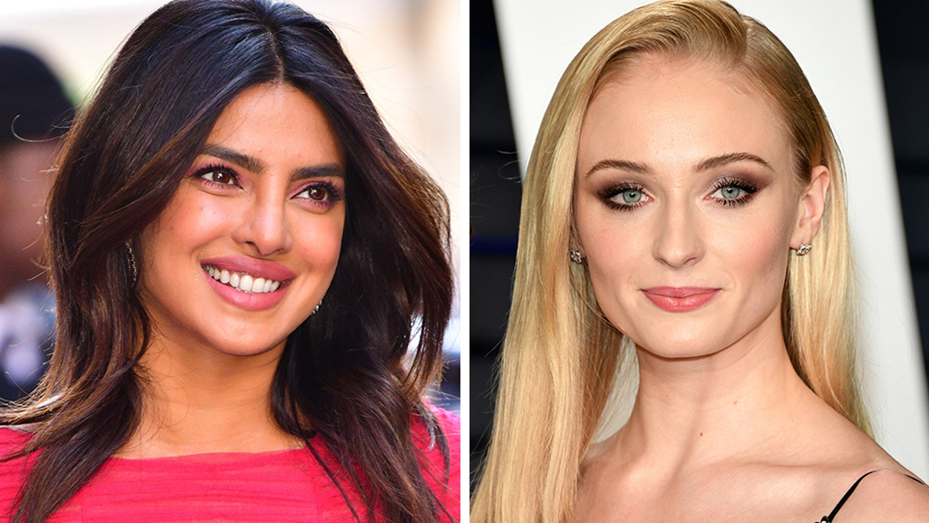 dd542a08072c Actresses Priyanka Chopra, left, and Sophie Turner enjoyed some fun in the  sun with