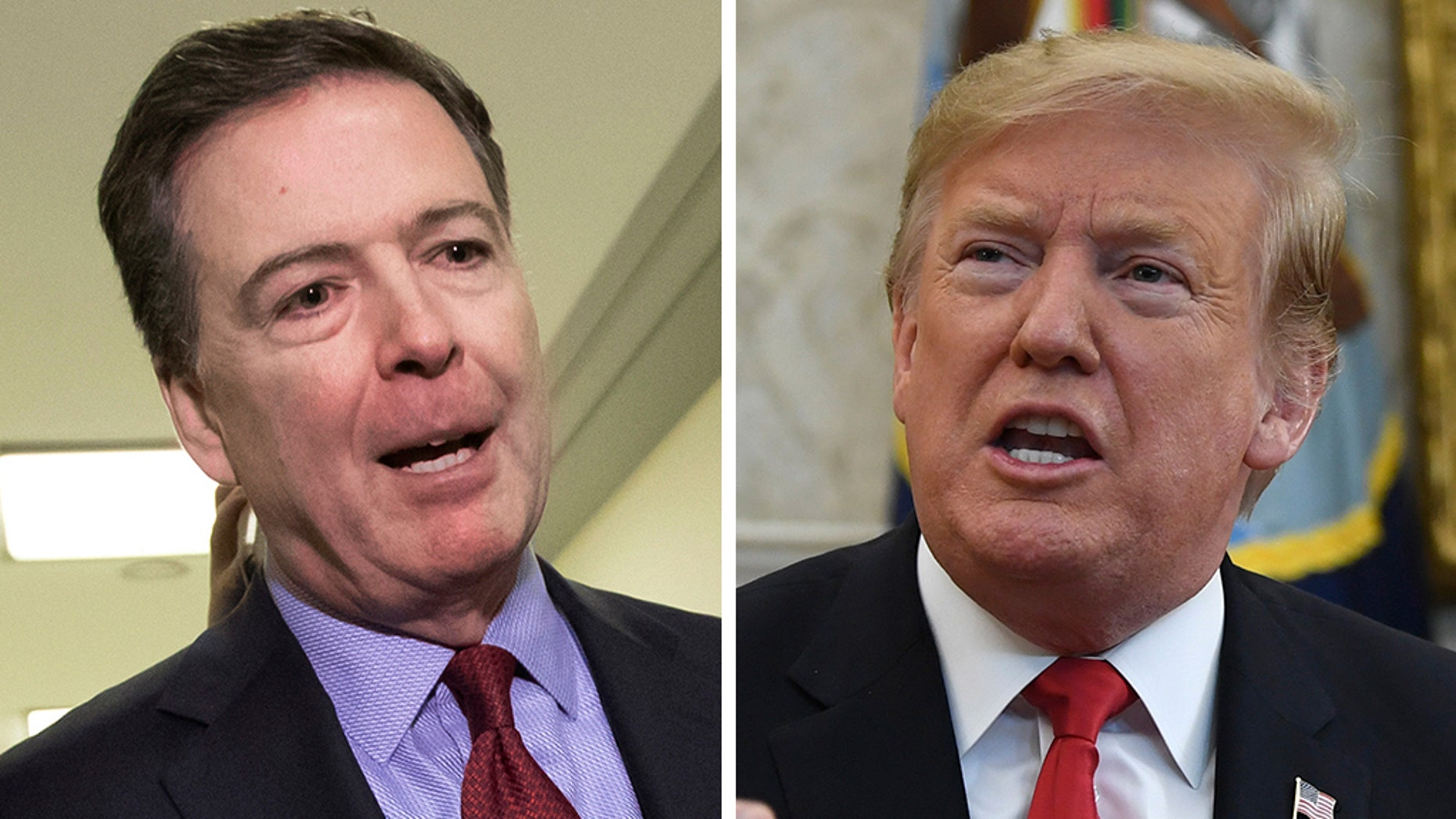 Former FBI Director James Comey said in an interview Wednesday that President Trump may have obstructed justice in his decision to fire him.
