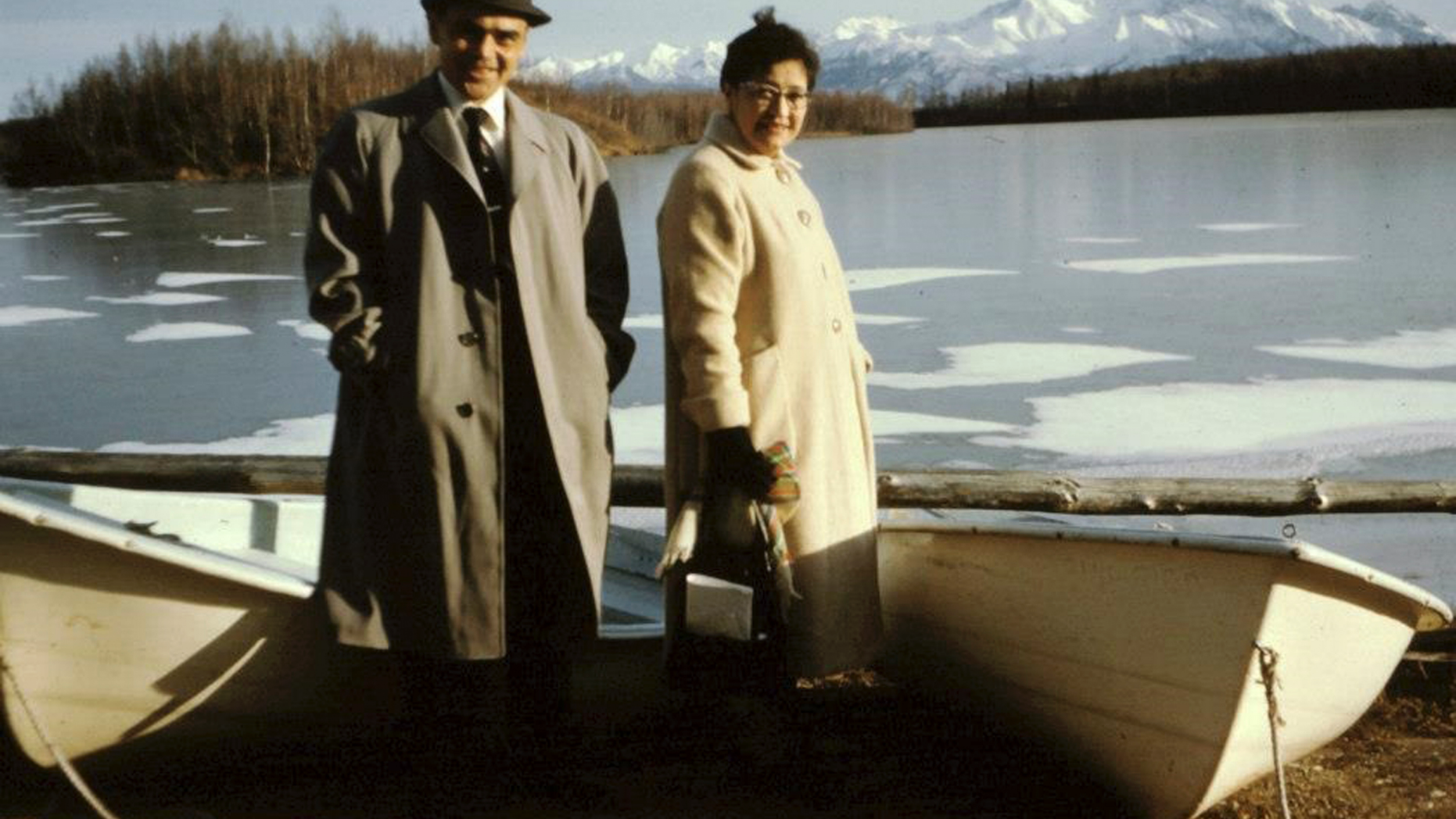 This undated photo provided by relatives shows the late Army veteran Richard Bean Sr. of Hoonah, Alaska and his wife Edith. Bean was among five long-deceased men who are being hailed by the state in March 2019 for their life-saving efforts during World War II for using their Native language to help the military outsmart the Japanese with Tlingit codes they could not break. (Family of Richard Bean Sr. via AP)