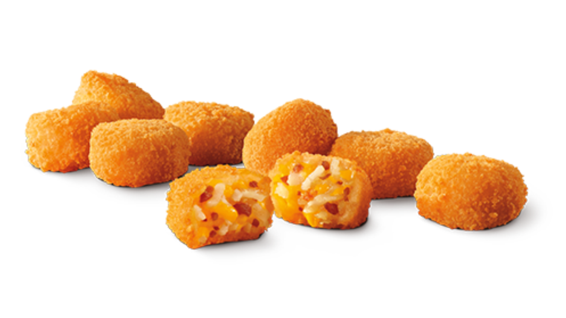 Eight tots come in an order, and if you eat them all, that's 330 calories.