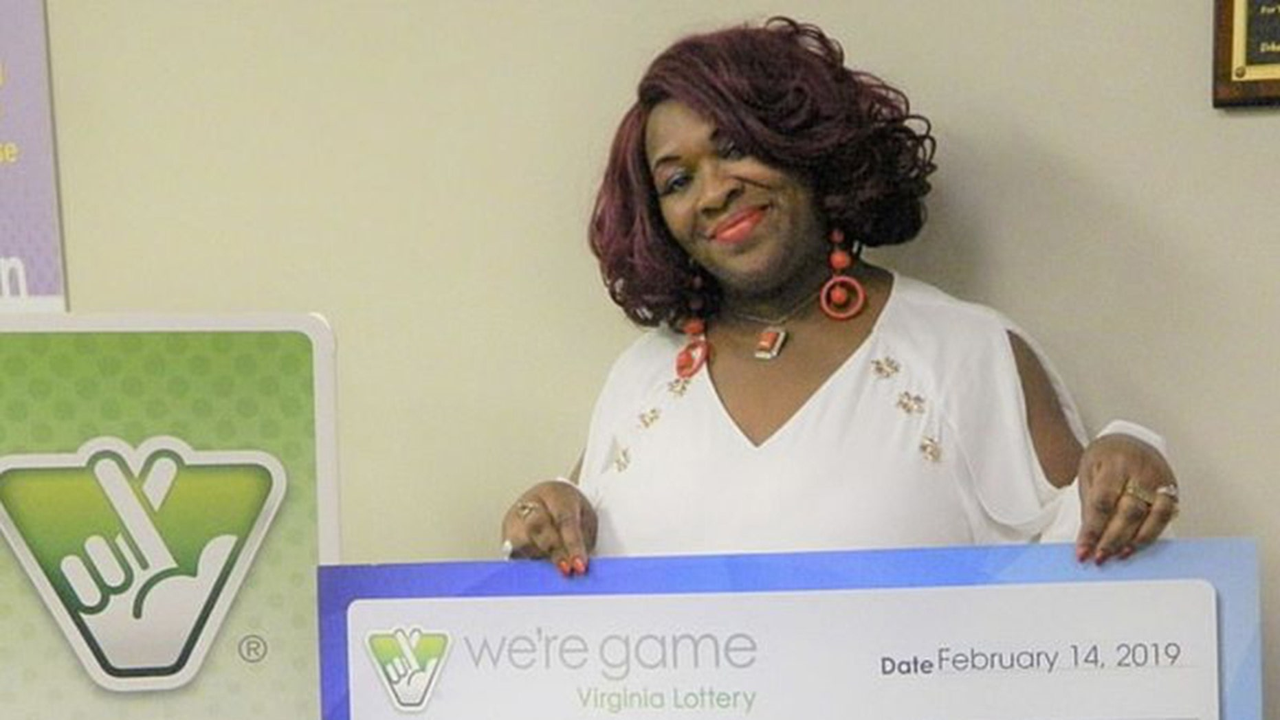 Deborah Brown, of Richmond, Virginia, won $150,000 after playing the same four number sequence 30 times on $1 lottery tickets