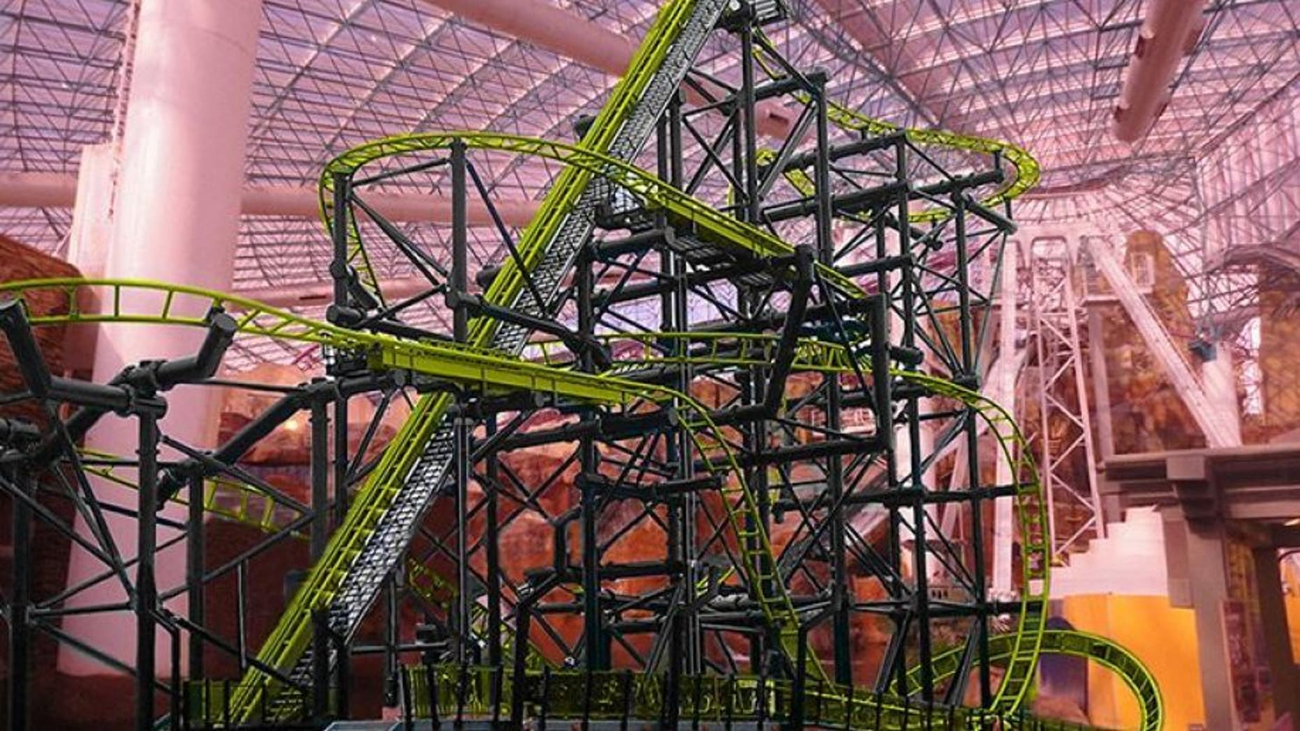 The woman, who was said to be between 25 and 30, was riding the El Loco Roller Coaster at the casino's indoor Adventuredome amusement park when the incident occurred.