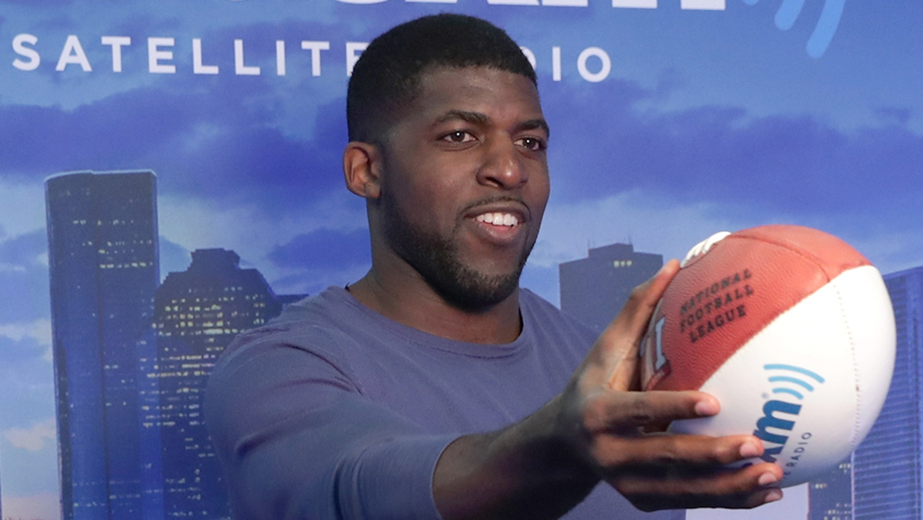 The Texas home of former NFL player and current ESPN commentator Emmanuel Acho was robbed earlier this month, according to a Monday report. (Photo by Cindy Ord/Getty Images for SiriusXM, File)