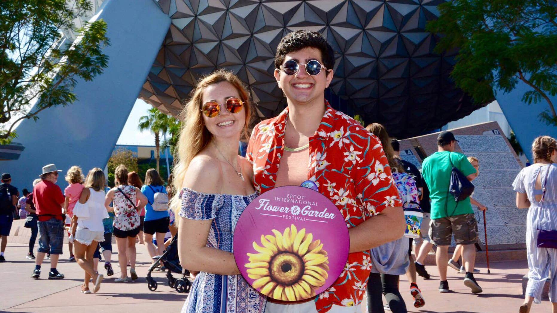 Brittany Blake and boyfriend Regory Turco had visited the Florida theme park on Friday when they became separated.