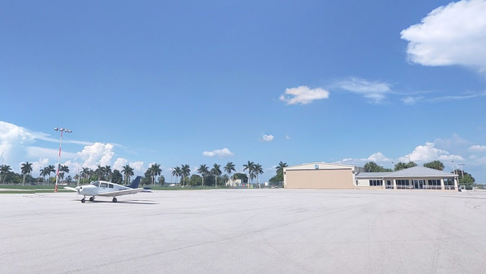Pahokee Airport, near the scene of the fatal small-plane crash. The aircraft pictured is not the one involved in the crash.