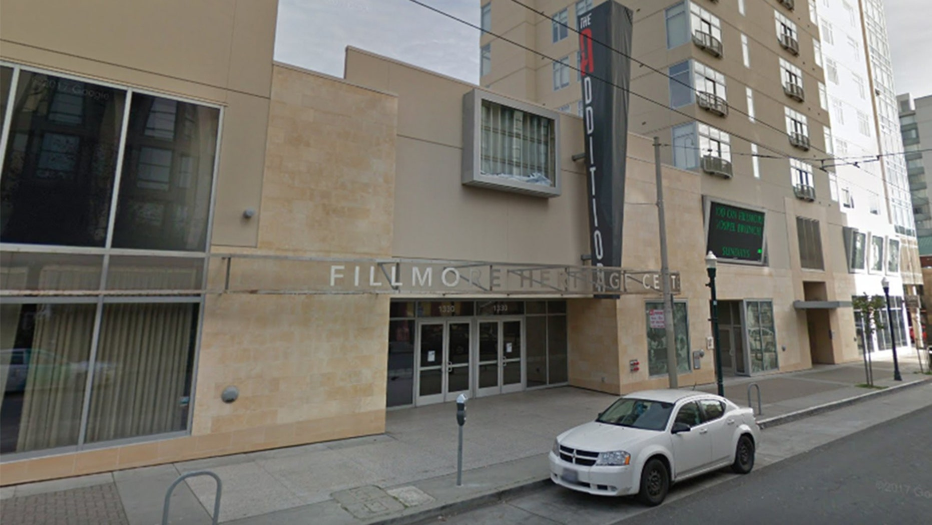 A shooting in San Francisco's outside the Fillmore Heritage Center on Saturday night has left one person dead and at least three more injured, one critically, police say