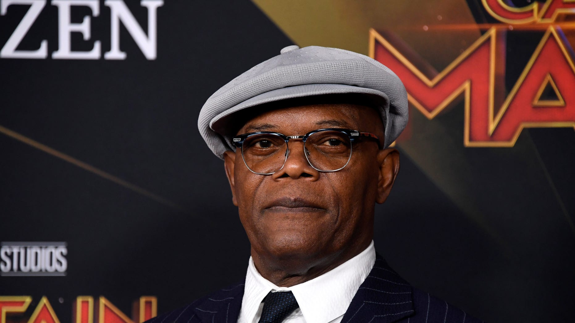 """HOLLYWOOD, CALIFORNIA - MARCH 04: Samuel L. Jackson attends Marvel Studios """"Captain Marvel"""" Premiere on March 04, 2019 in Hollywood, California. (Photo by Frazer Harrison/Getty Images)"""