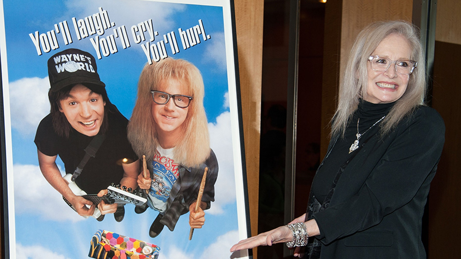 Director Penelope Spheeris attends Academy Of Motion Picture Arts And Sciences Hosts A Wayne's World Reunion during AMPAS Samuel Goldwyn Theater on Apr 23, 2013 in Beverly Hills, California. — Getty