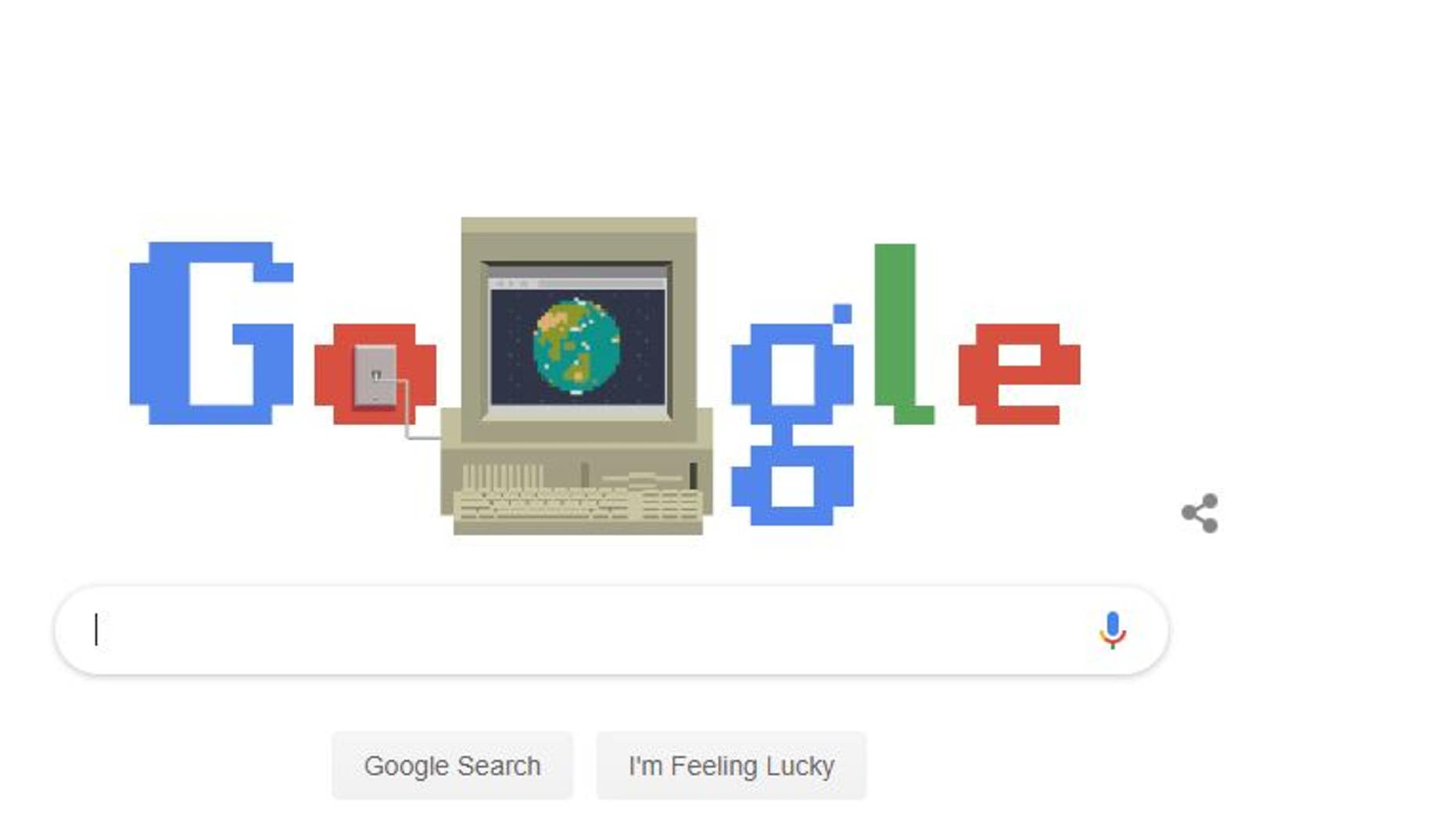 Google celebrates the invention of the internet.
