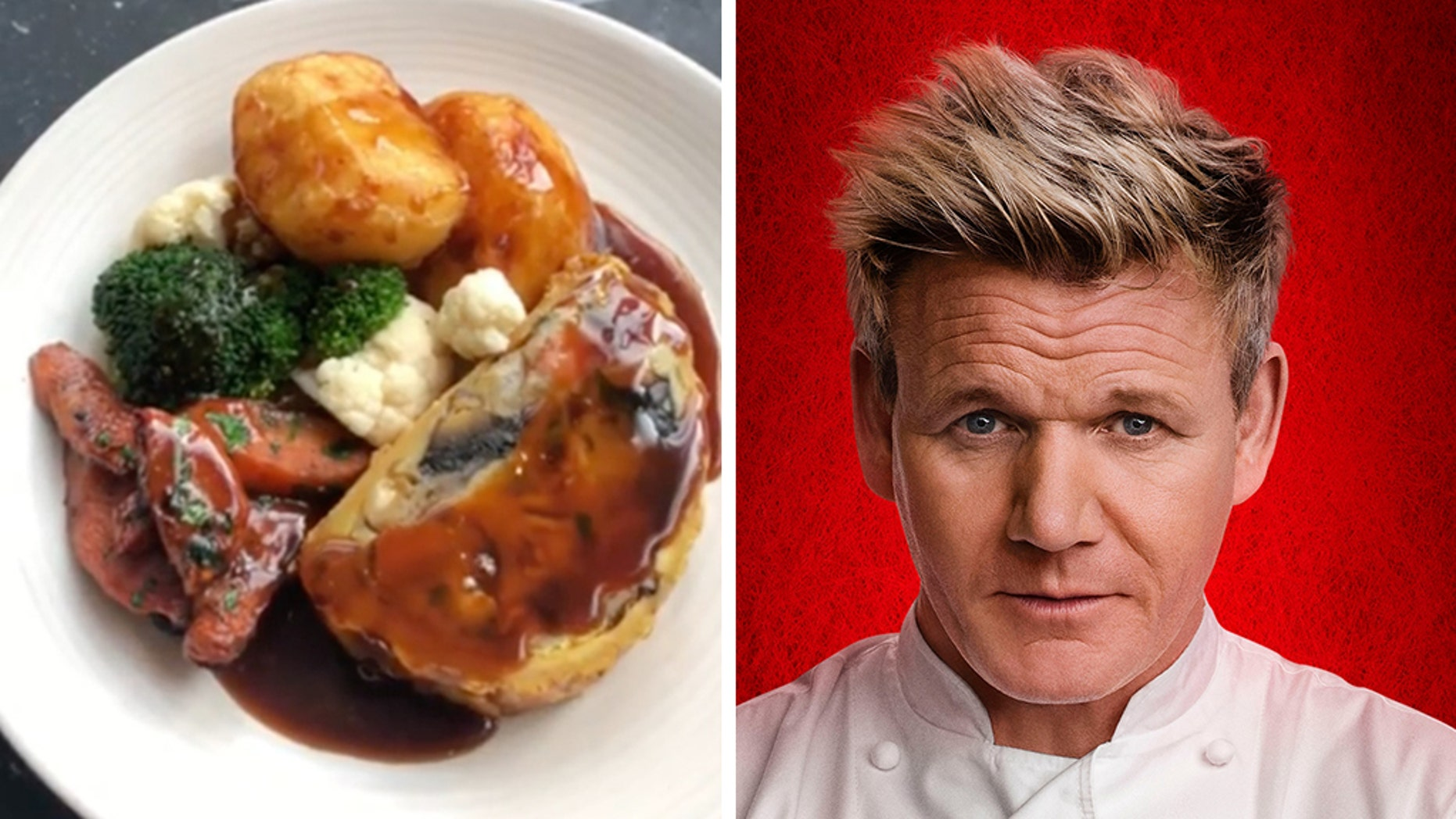 Gordon Ramsay has added a Vegan Sunday Roast to his London restaurant's menu — and it's getting mixed reviews.