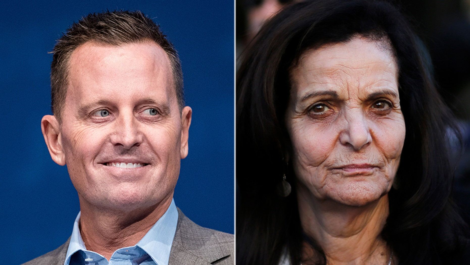 Richard Grenell (left) has spoken out against the decision to allow Rasmea Odeh (right) to speak at a talk in Berlin.