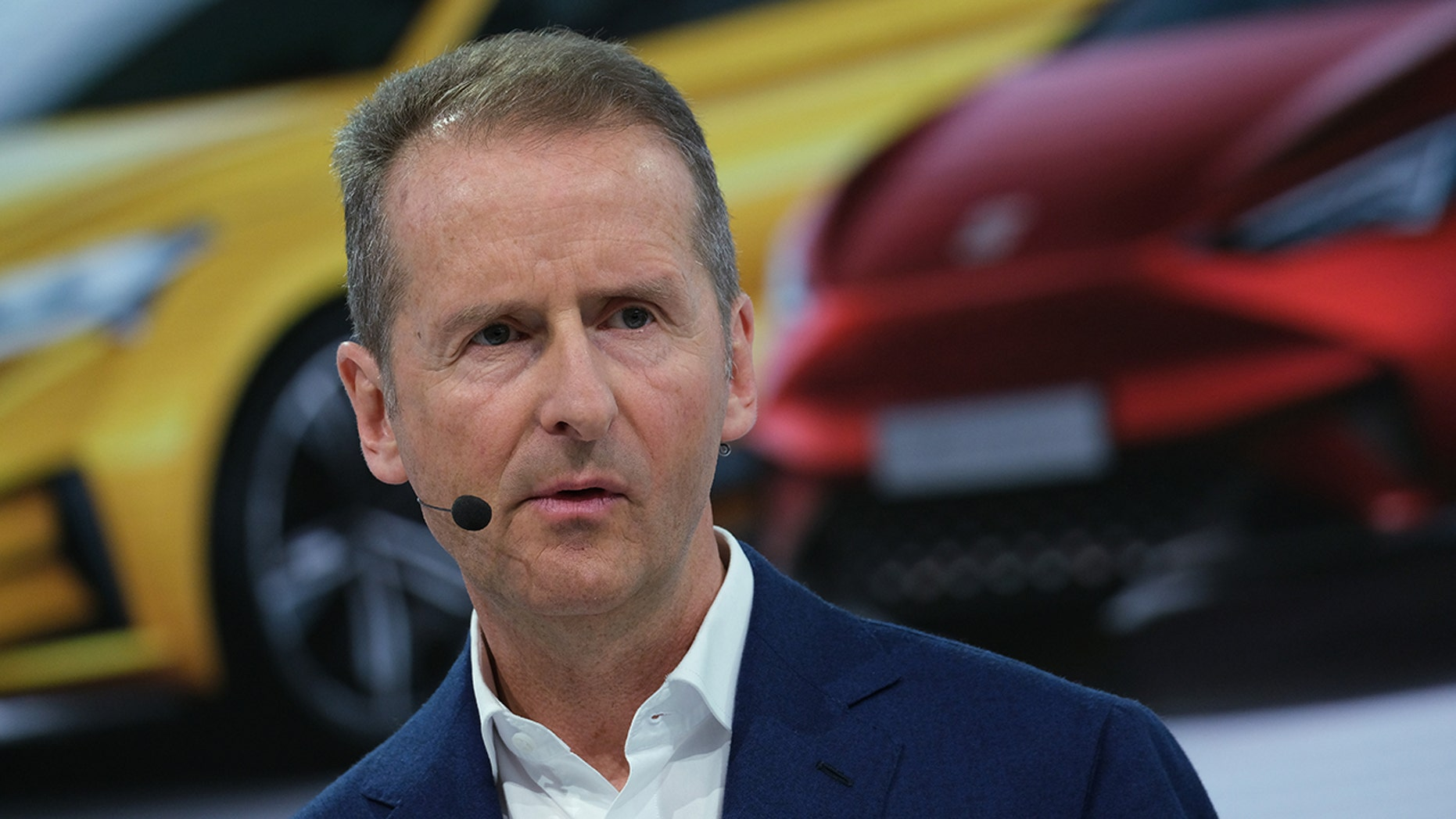 Herbert Diess, CEO of German automaker Volkswagen AG, speaks at the company's annual press conference at Volkswagen headquarters on March 12, 2019 in Wolfsburg, Germany.