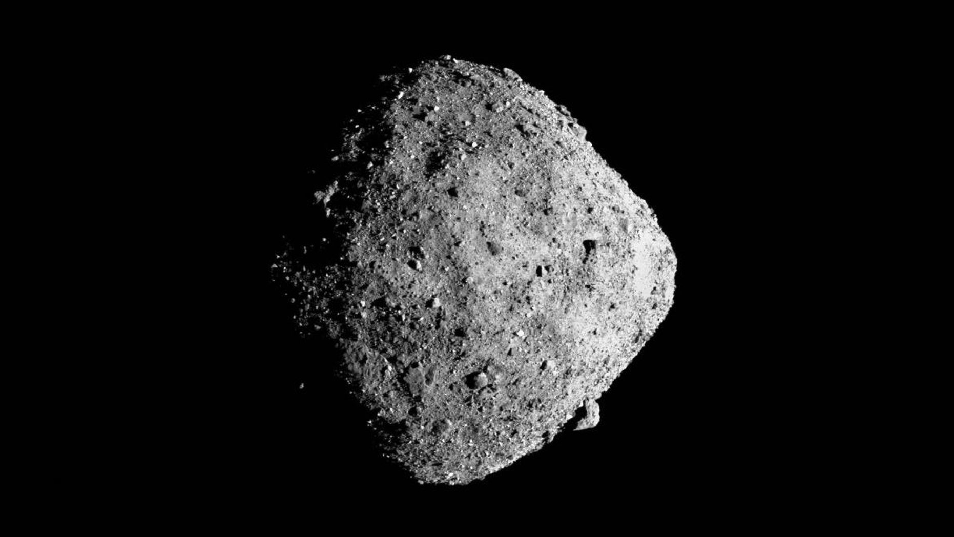 NASA's OSIRIS-REx spacecraft captured this image of the asteroid Bennu on Dec. 12, 2018. The asteroid may be a water-rich target for space miners.