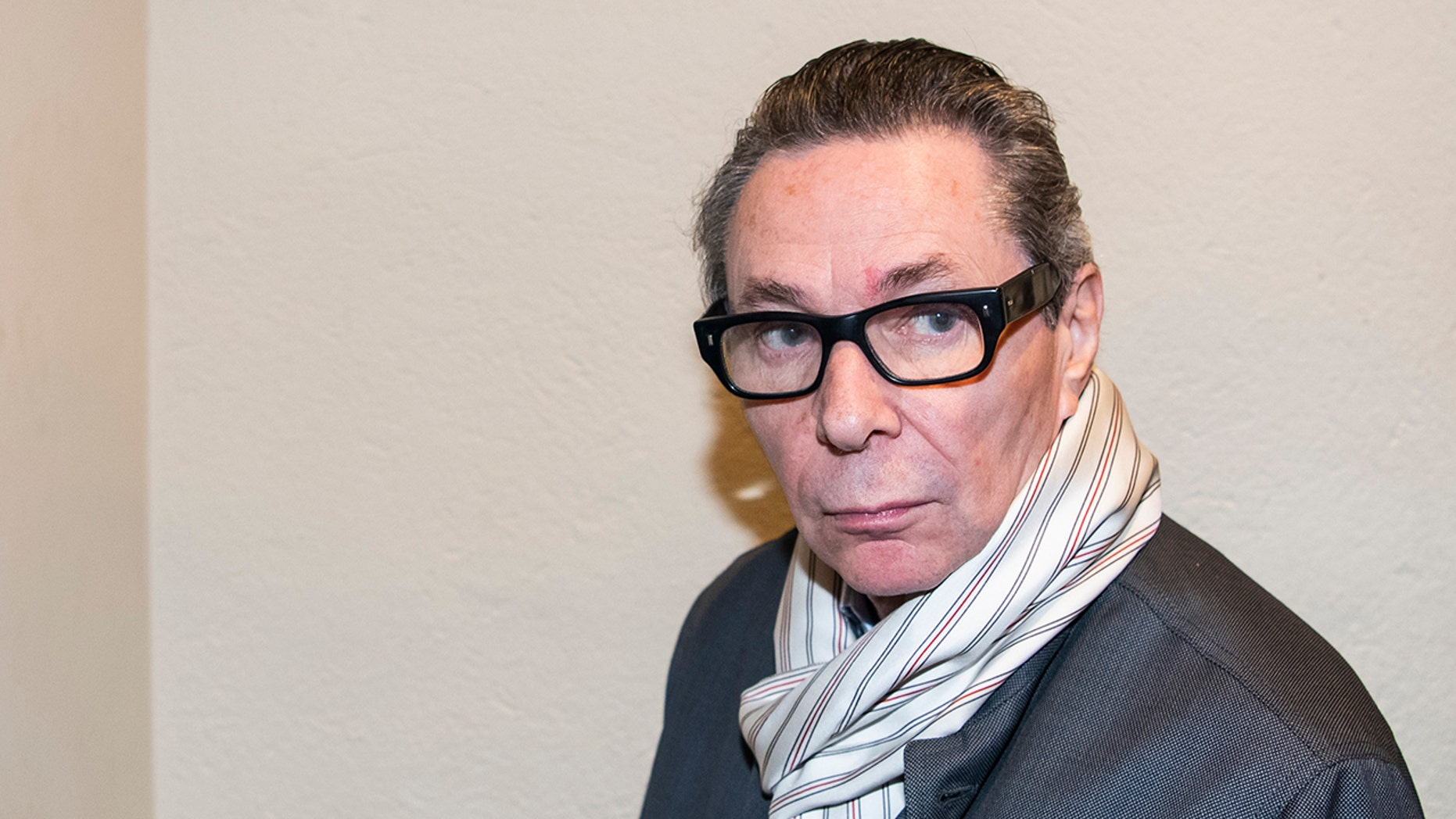 Jean-Claude Arnault arrives at court in Stockholm last year, where he was convicted of rape, and sentenced to two years in prison. (JONATHAN NACKSTRAND/AFP/Getty Images)