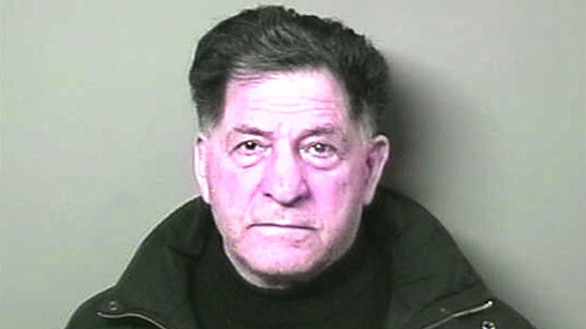 """Gangster John """"Sonny"""" Franzese mugshot in circa 1990."""
