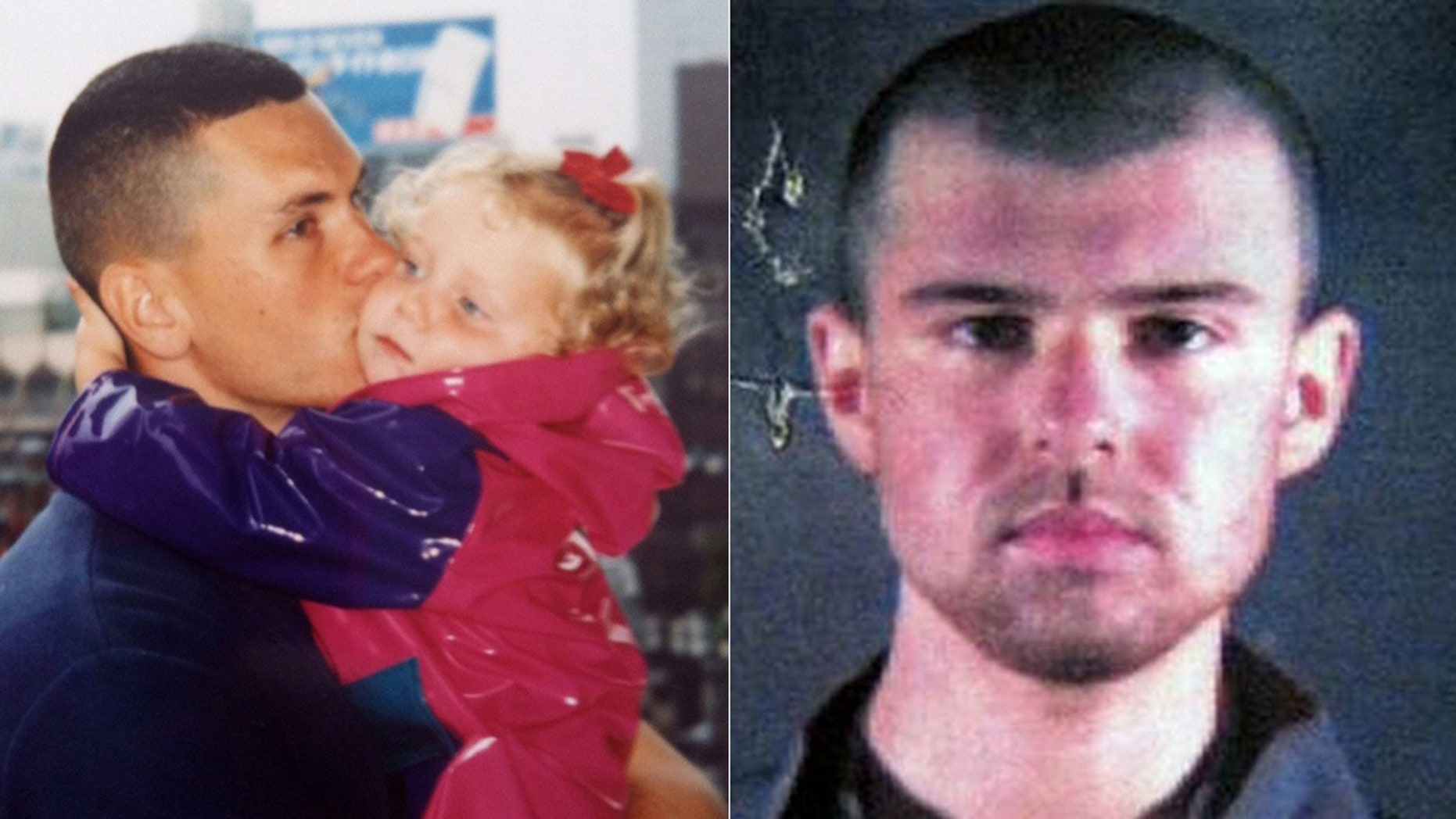 "Johnny ""Mike"" Spann with daughter Alison, who was the first American killed in the Afghanistan war soon after interviewing ""American Taliban"" John Walker Lindh"
